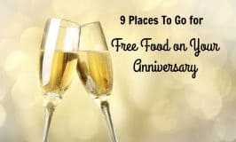 9 Places To Go for Free Food on Your Anniversary