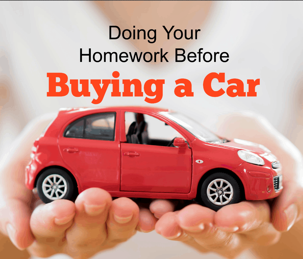 Doing Your Homework Before Buying a Car