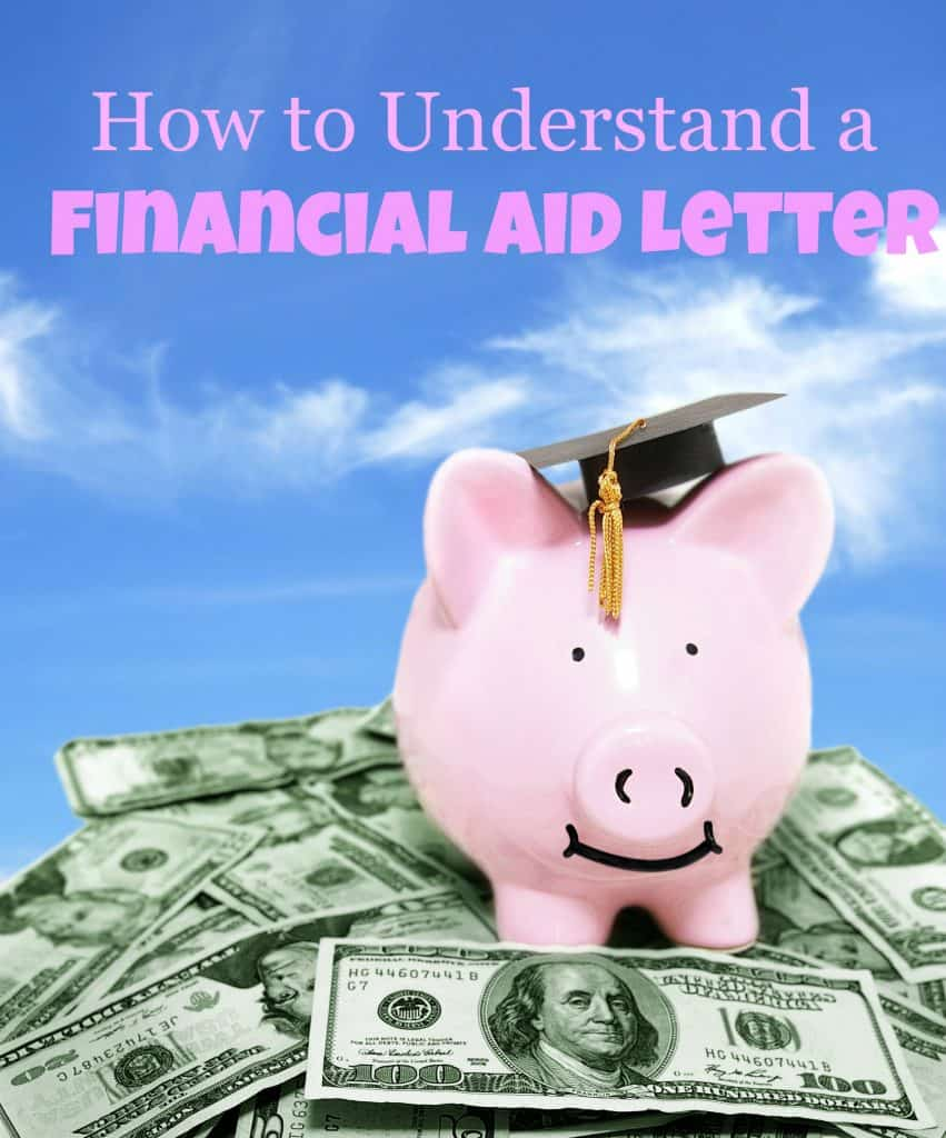 financial aid letter