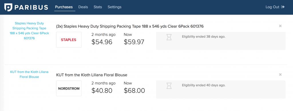 paribus purchase price adjustment app