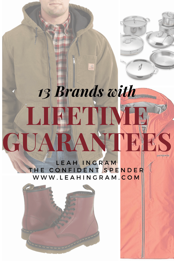 brands lifetime guarantees warranty
