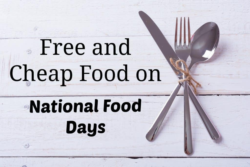 freebies national food holidays