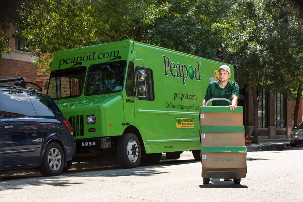 peapod grocery delivery truck