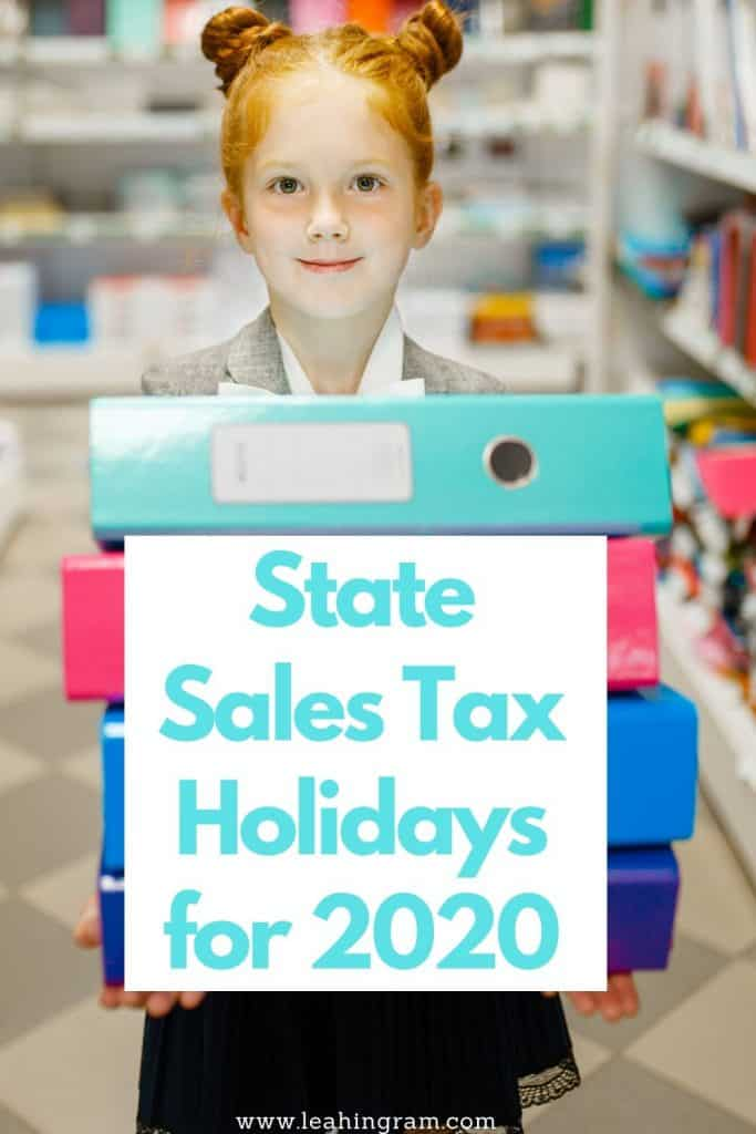 state sales tax holidays