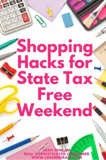 tax free weekend shopping hacks
