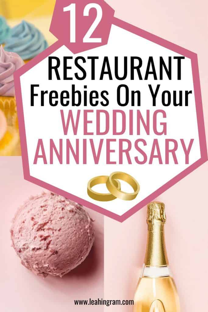 wedding anniversary freebies
