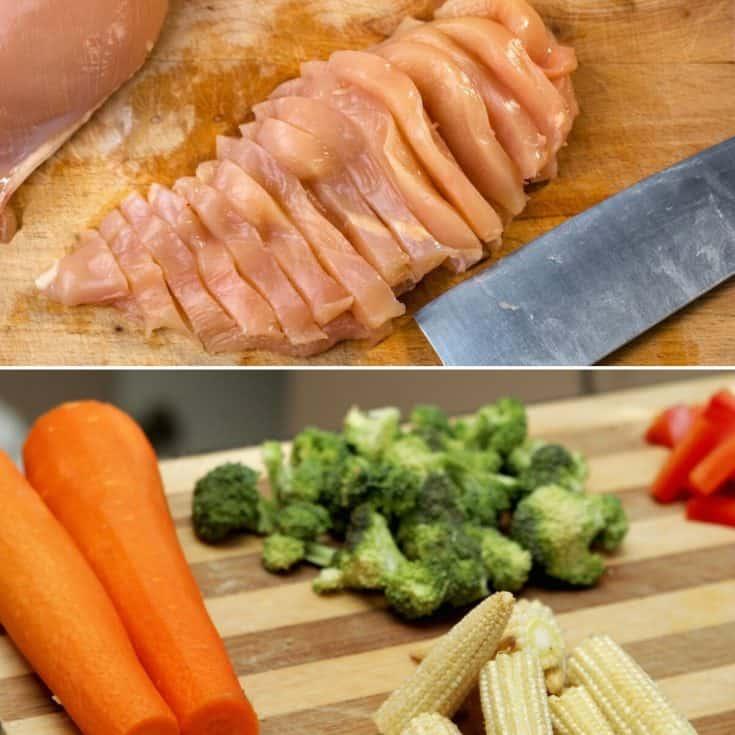 chicken stir fry in crock pot raw ingredients