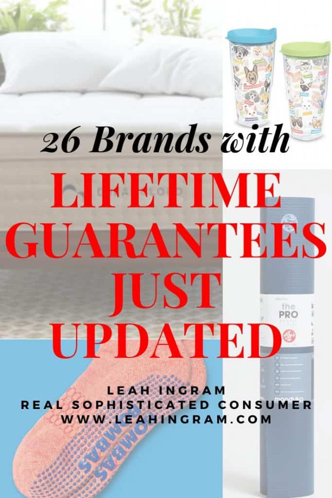 brands with lifetime guarantees