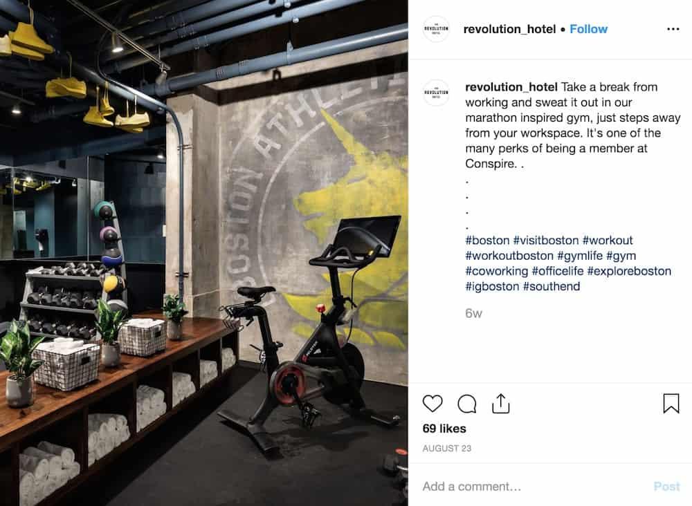 the revolution hotel boston peloton