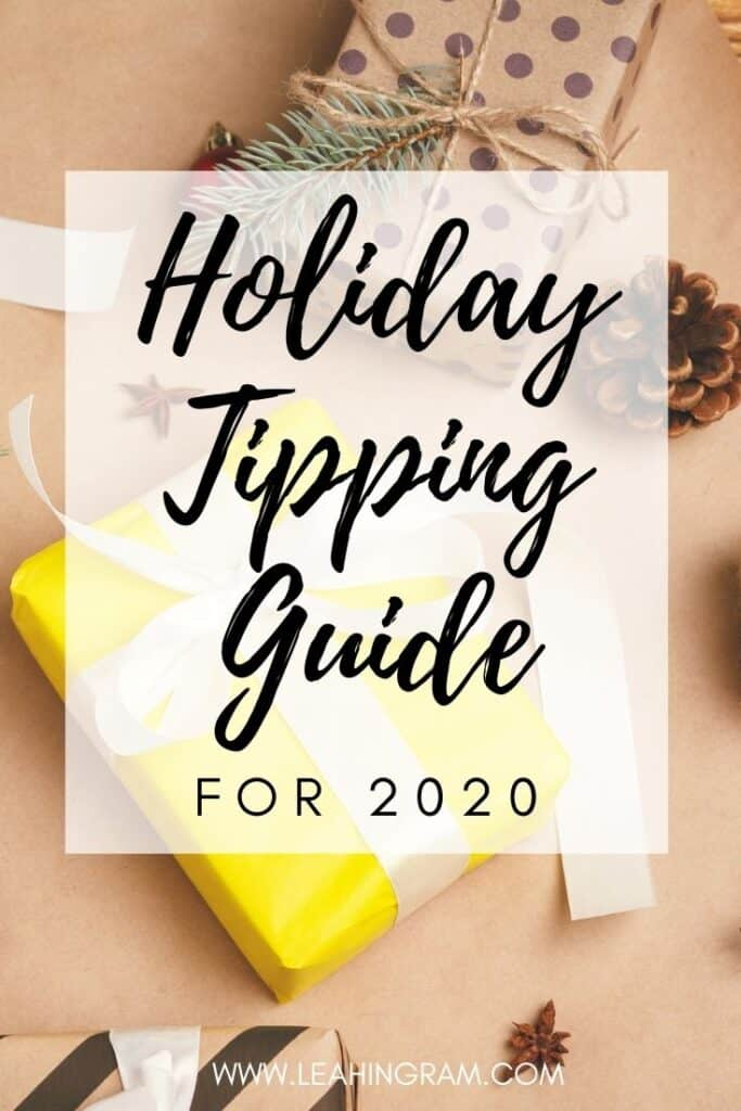 holiday tipping guide etiquette 2020