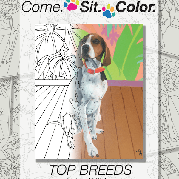 Dog Coloring Book for Adults