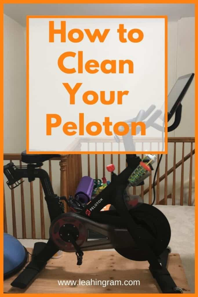 how to clean your peloton orange_yellow