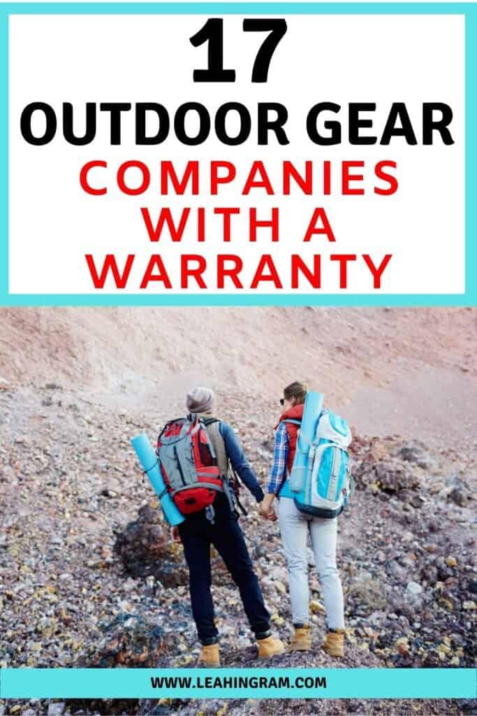 outdoor gear companies with warranties