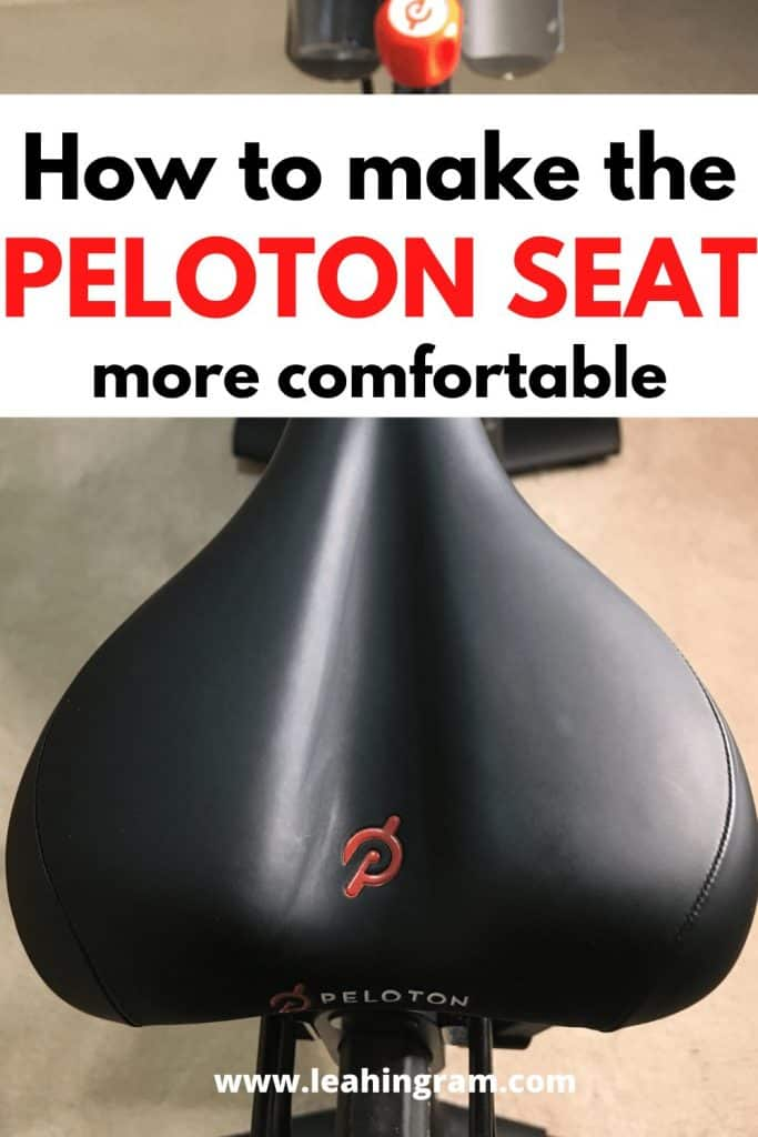 how to make the peloton seat more comfortable