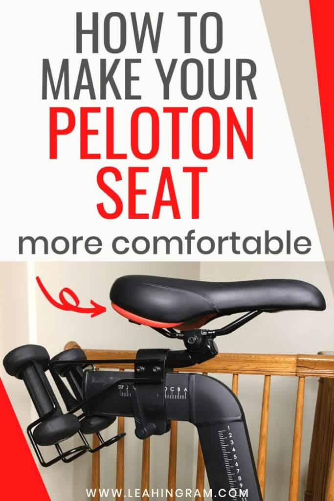 how to make peloton seat more comfortable