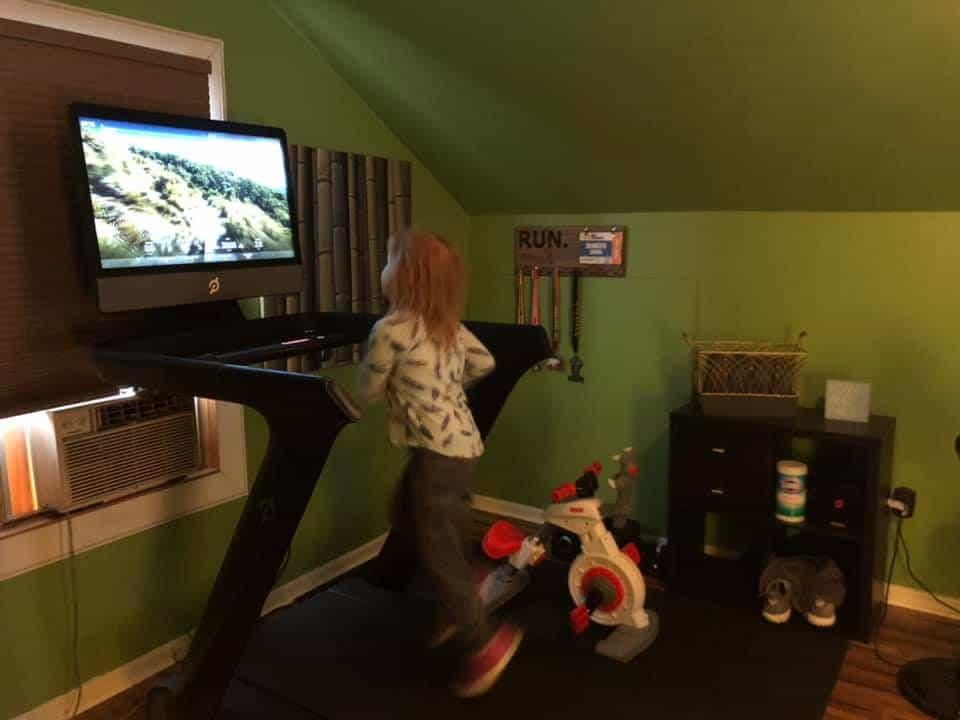 peloton for kids on a treadmill