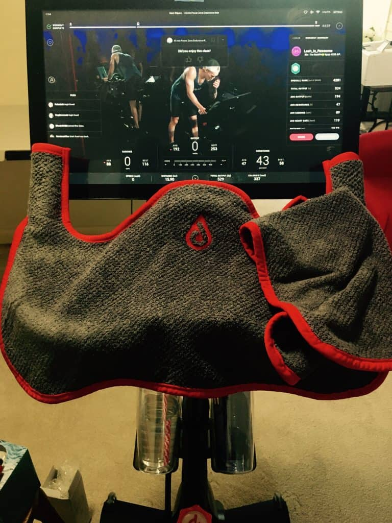spin towel on peloton bike