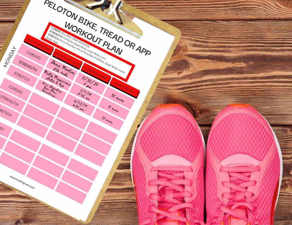 peloton workout planner schedule pdf