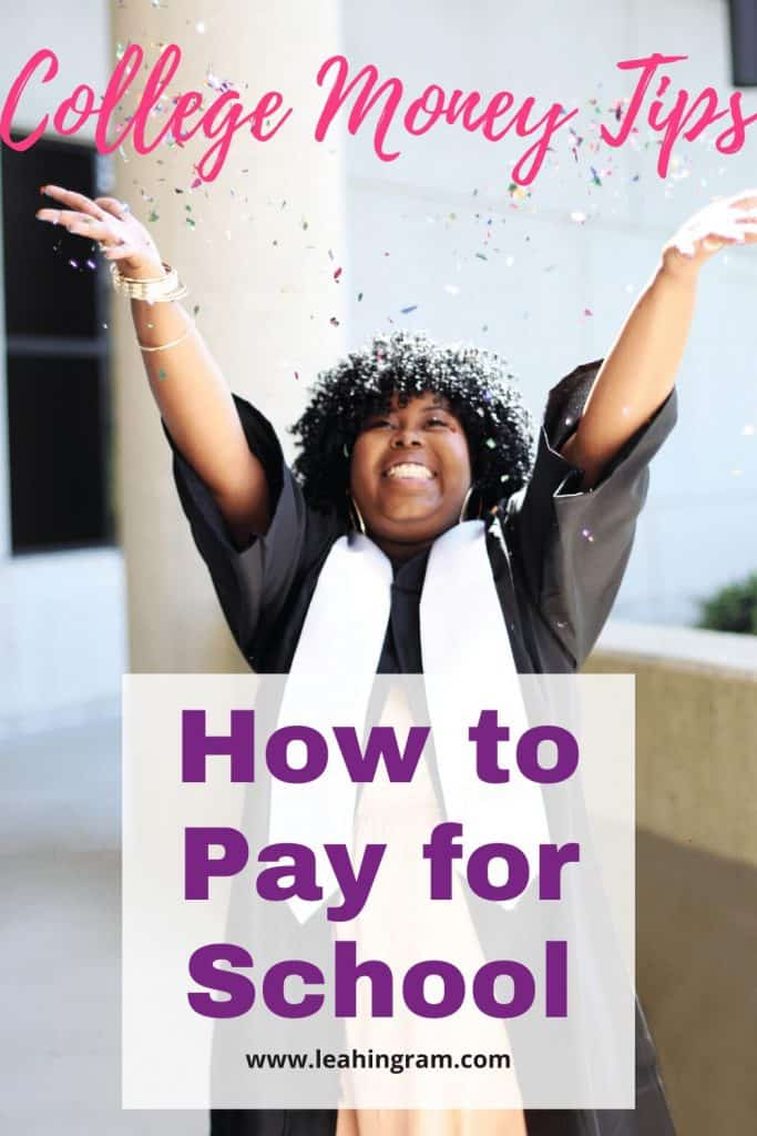 pay for school graduate throwing confetti