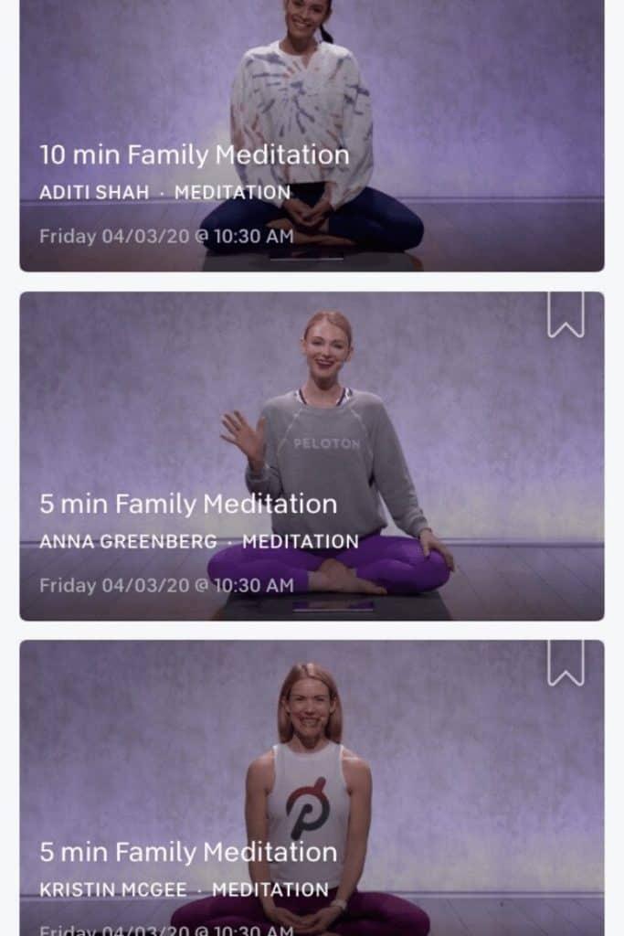 peloton yoga and family meditation