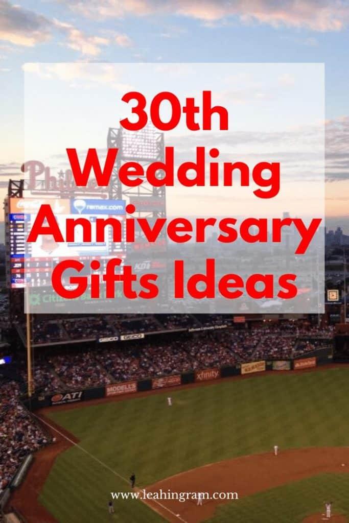 30th Anniversary Gift Ideas