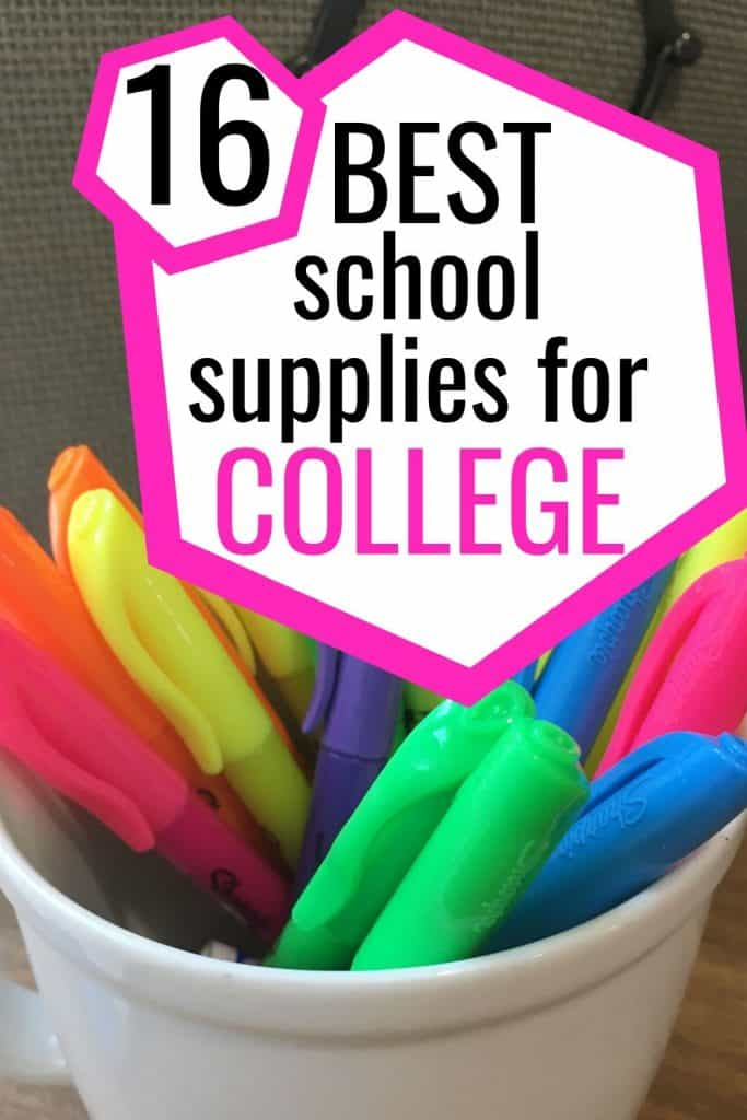 best school supplies for college