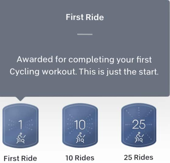 peloton for beginners ride badges
