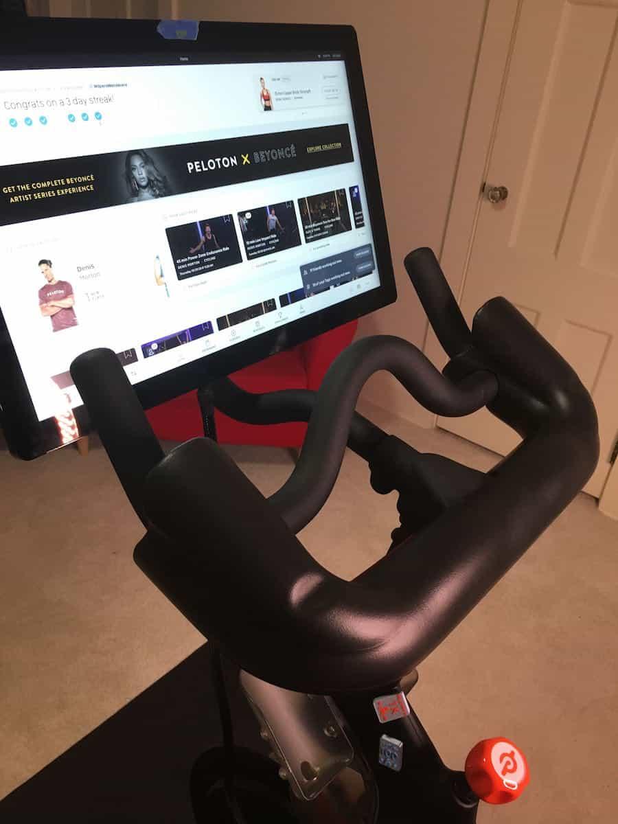 peloton handlebar extender
