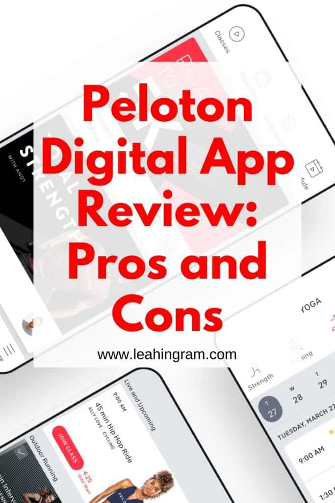 peloton digital app review pin