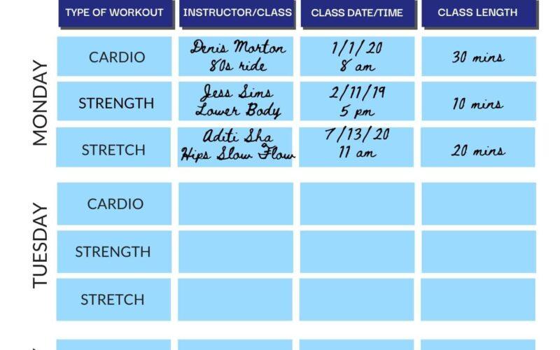Organize Your Peloton Workout Calendar