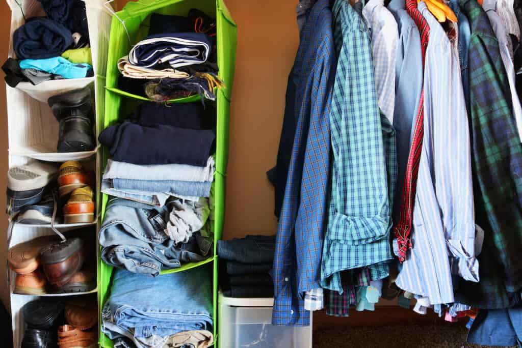 dorm packing checklist closet organizer