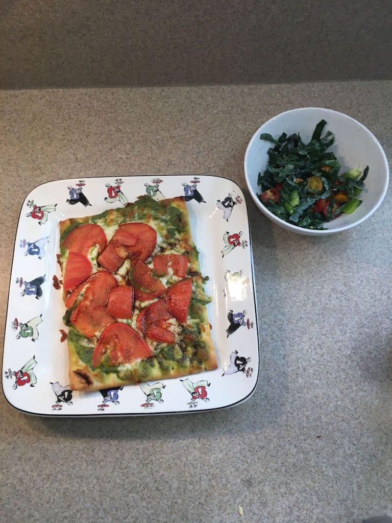 green chef meal kit flatbread