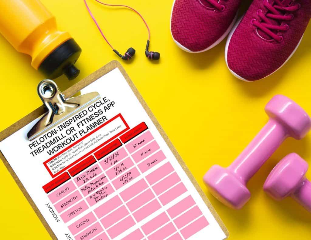peloton workout planner calendar