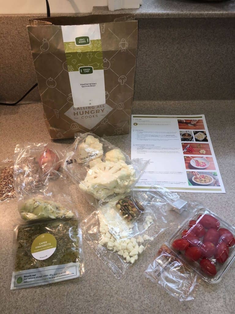 green chef meal kit ingredients
