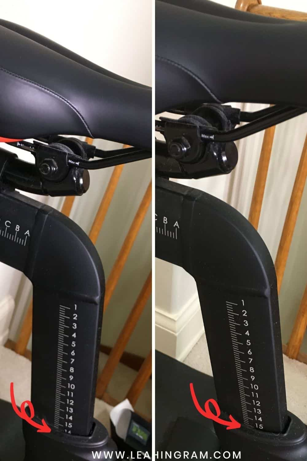 before after peloton bike fit