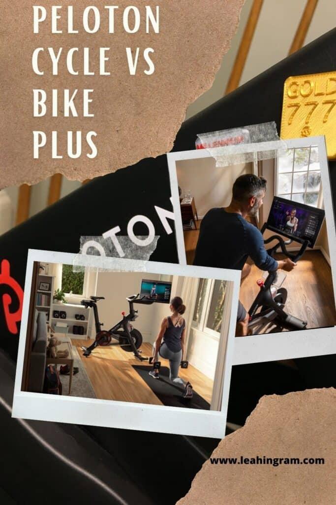 peloton cycle vs bike plus pin