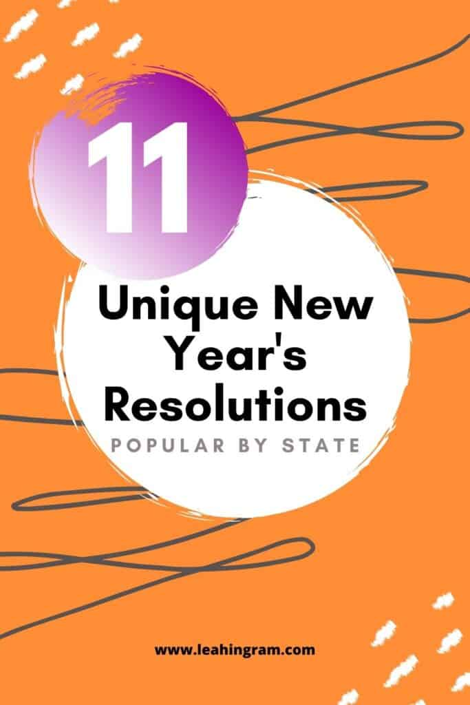 unique new year's resolutions by state