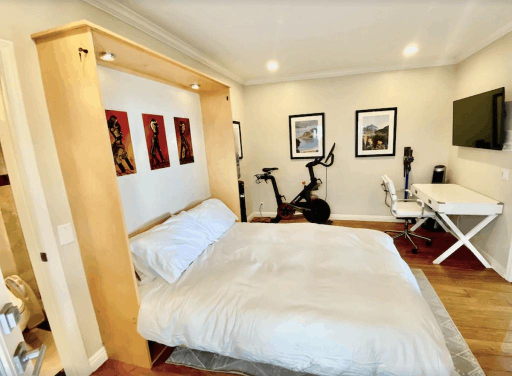 san diego vrbo vacation rental peloton in bedroom