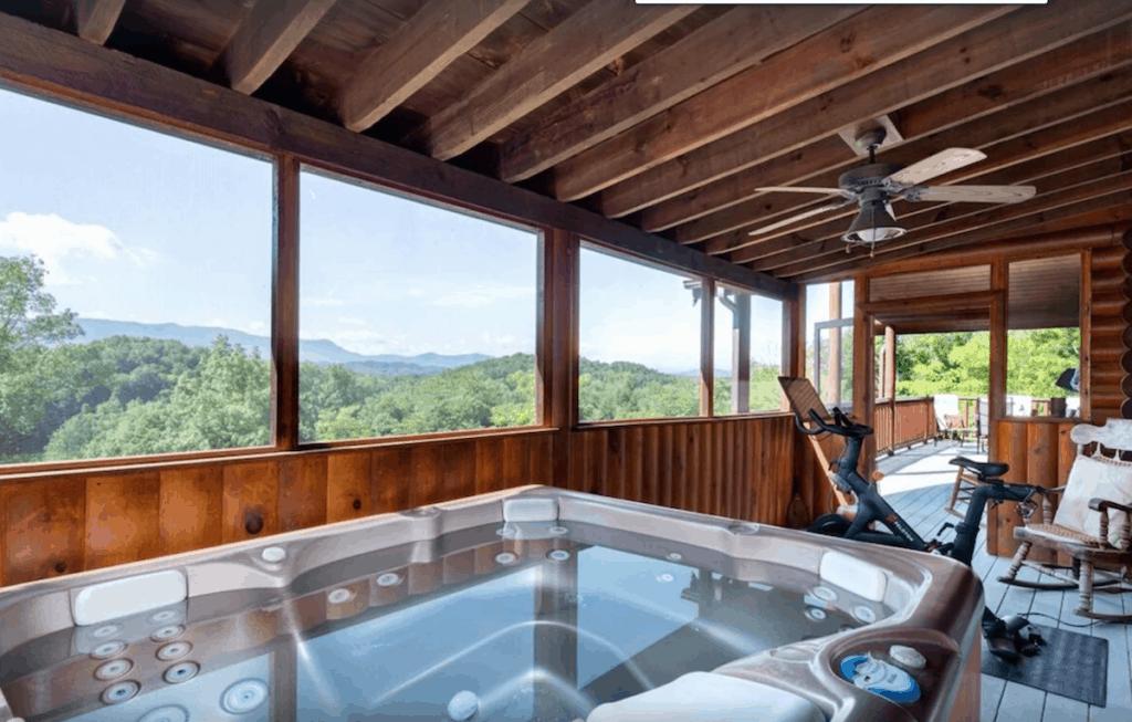 tennessee hot tub vrbo vacation rental peloton
