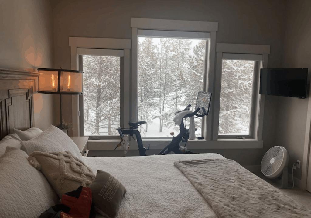 winter park colorado vrbo vacation rental peloton in bedroom