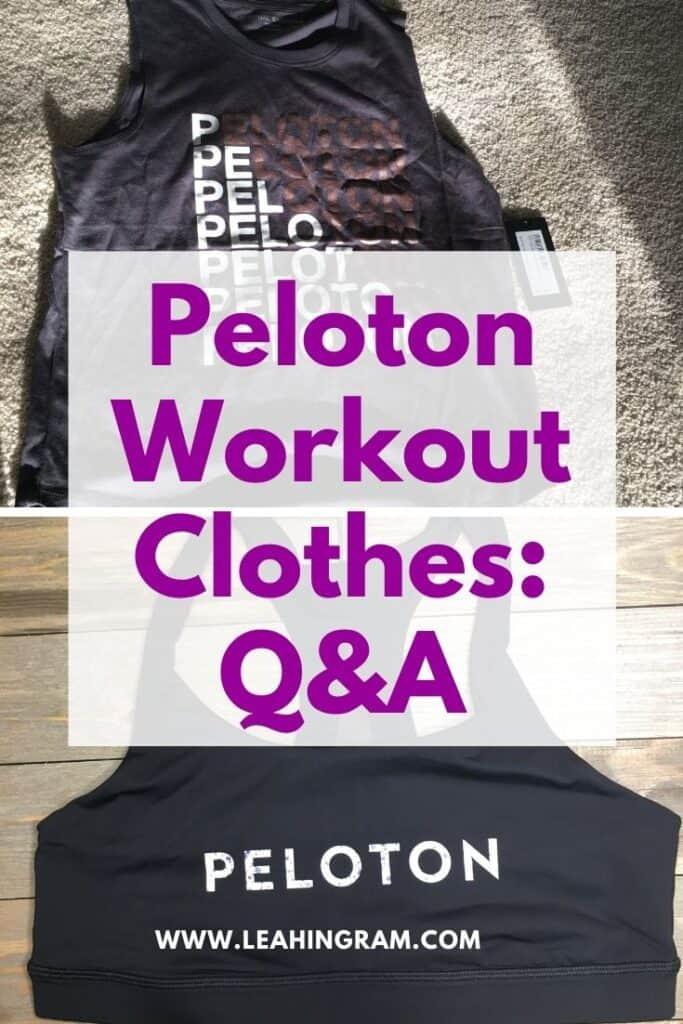 peloton workout clothes qanda pin