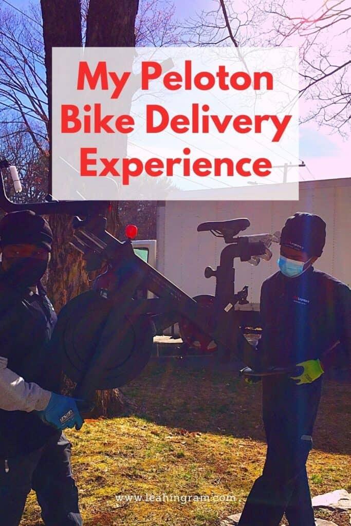 Peloton bike being delivered