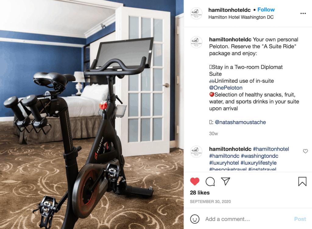 hamilton hotel peloton bike package