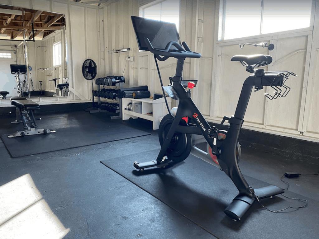 windsor vrbo vacation rental peloton bike home gym