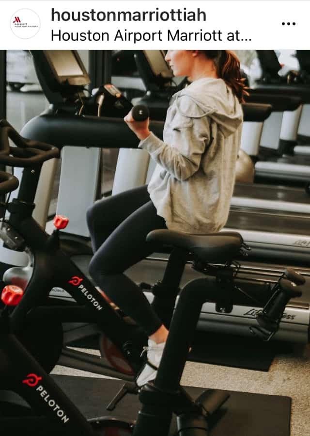 houston airport hotel peloton cycle