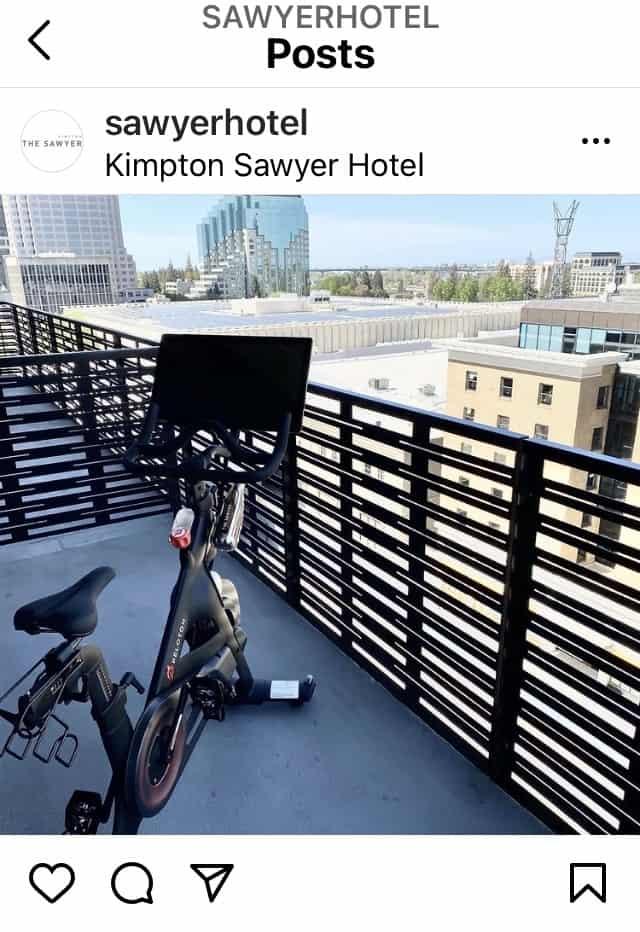 peloton hotel kimpton sawyer sacramento