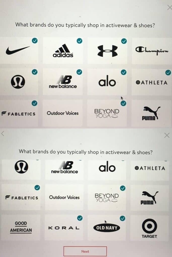 stitch fix workout clothes brands