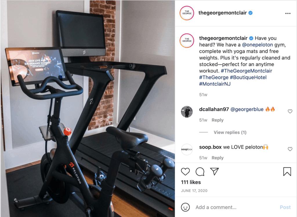 the george hotel montclair nj peloton bike tread