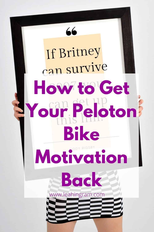 peloton bike motivation blog post featured pin