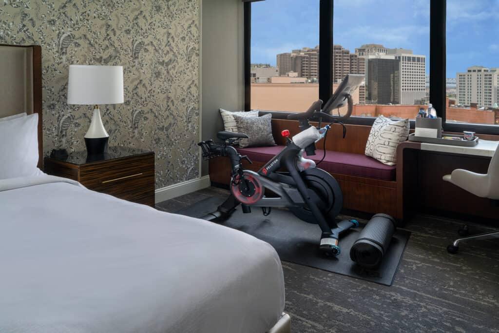 JW Marriott New Orleans_Guest room In-room Peloton Bike